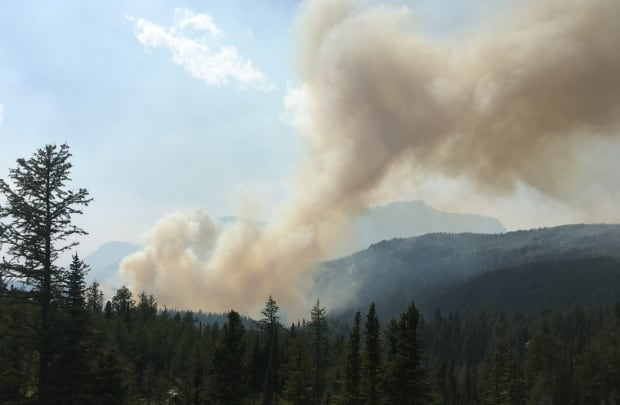 Wildfire closes big stretch of highway through Kootenay National Park