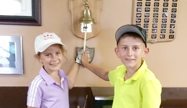 Gull Lake Golf Course Kali and Kohen Yeske hole in one