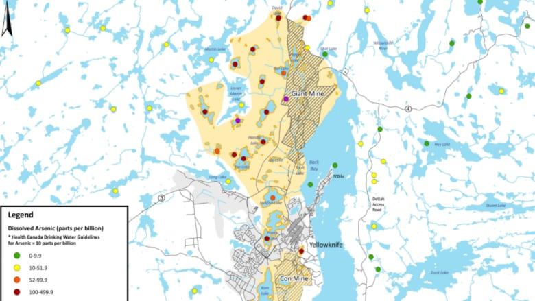 Map Of Canada Yellowknife.Town Hall On Arsenic Levels In Yellowknife Lakes Set For Friday