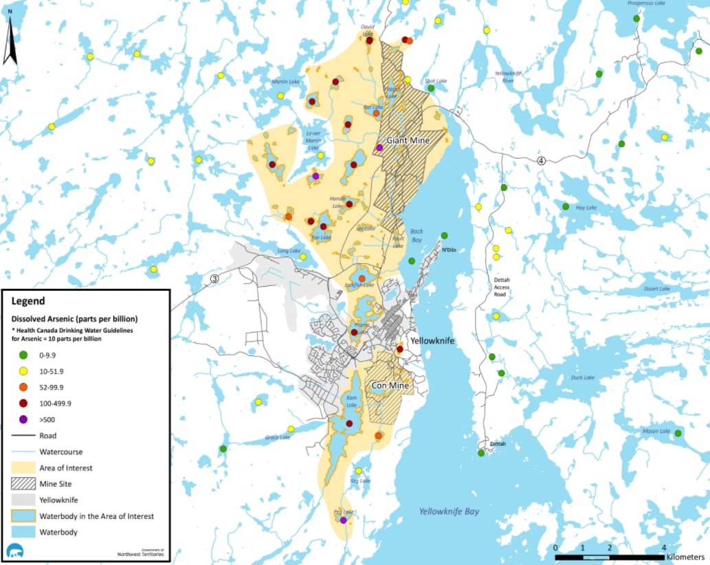 Map Of Canada Yellowknife.Follow The Dots N W T Issues Health Advisory New Map Showing
