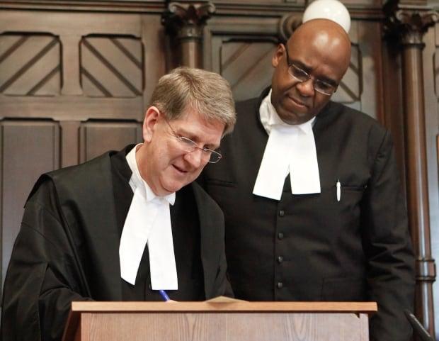 Nova Scotia Chief Justice Michael MacDonald and Judge Sam Moreau