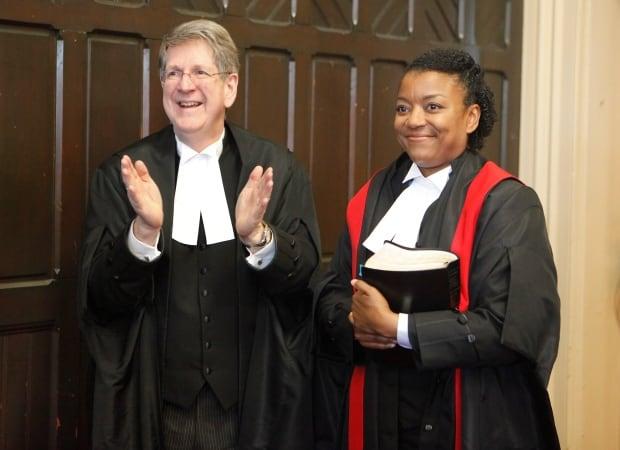 Nova Scotia Chief Justice Michael MacDonald and Judge Rickcola Brinton