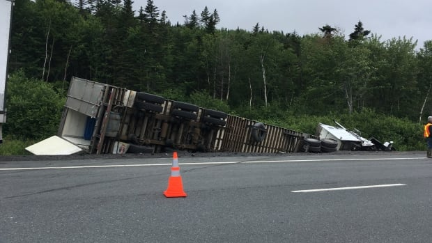 A transport truck and a car collided on the TCH outside of Clarenville late on Aug. 1. The accident was fatal.