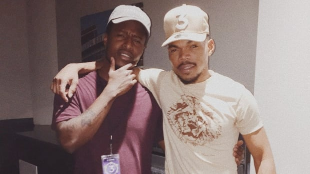 Negele Hospedales, left, was hired as communications intern for Chance The Rapper, right, and spent most of his days sending out emails and connecting with collaborators.