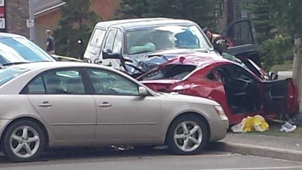 The scene of the crash that took the lives of Rashmi and Ritvik Bale.