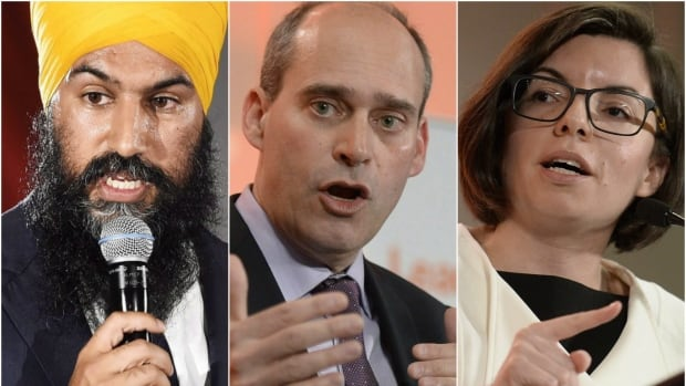 Ontario MPP Jagmeet Singh, Quebec MP Guy Caron and Manitoba MP Niki Ashton faced off in the NDP leadership debate in Victoria Wednesday.