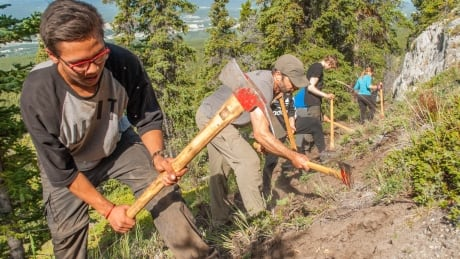 Trail building Whitehorse