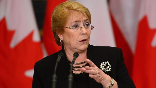 Chile President Michelle Bachelet, seen on Parliament Hill in Ottawa on June 5, has indicated she will sign the bill into law.