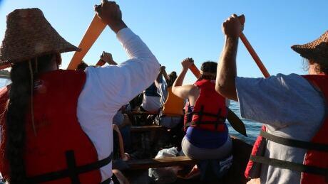 Squaxin Island canoe - Tribal Canoe Journey