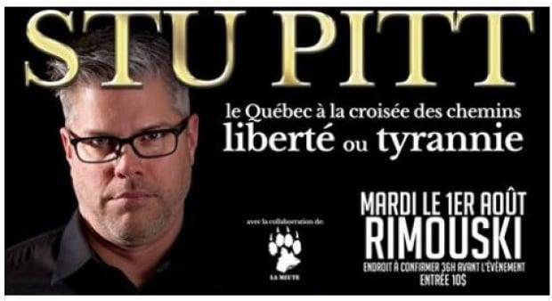 Facebook event ad for La Meute André Pitre talk