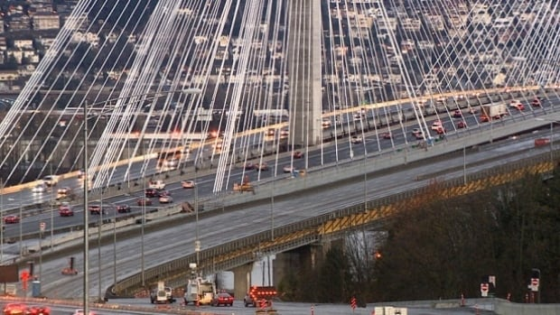 The Port Mann Bridge, which is overseen by TI Corp., connects Surrey and Coquitlam, B.C.
