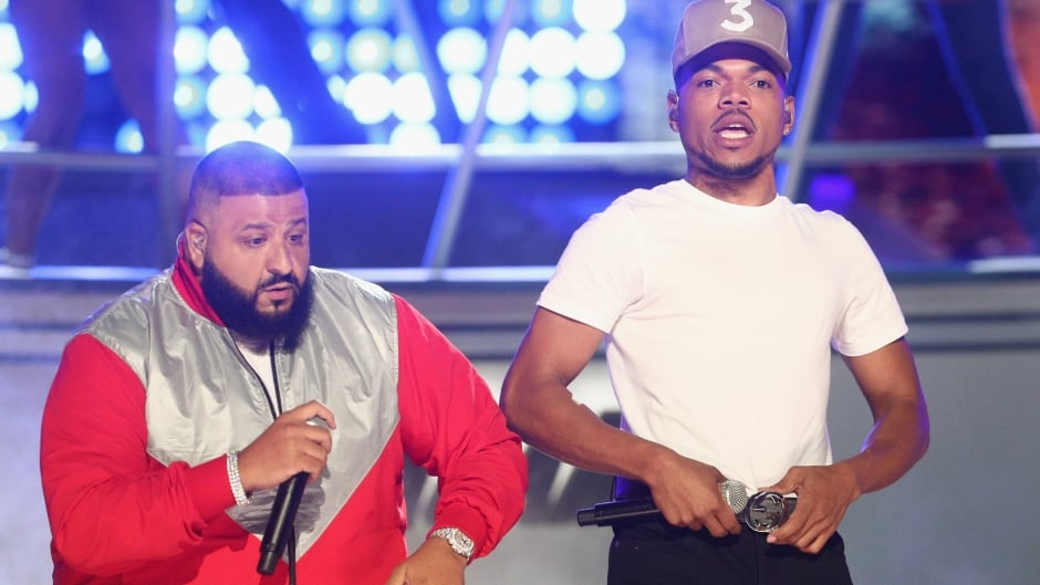 DJ Khaled and Chance the Rapper perform onstage at 2017 BET Awards at Microsoft Theater on June 25, 2017 in Los Angeles, California.
