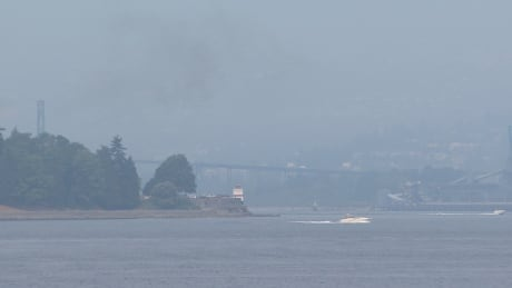 Smoke Lions Gate Bridge Vancouver