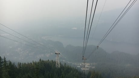 Grouse Grind in the smoke