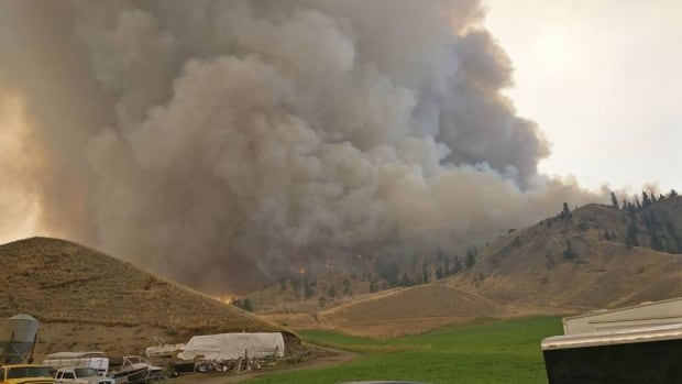 A controlled burn near the community of Clinton, B.C., is now raging out of control and has forced the evacuation of the area around a major BC Hydro substation.