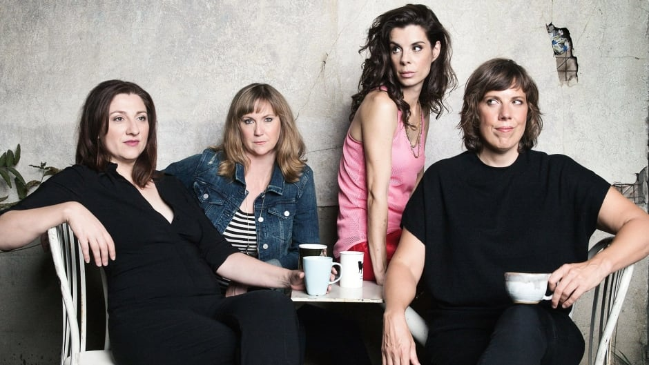 Aurora Browne, Meredith MacNeill, Carolyn Taylor and Jennifer Whalen are the performers behind CBC's hit series Baroness von Sketch Show.