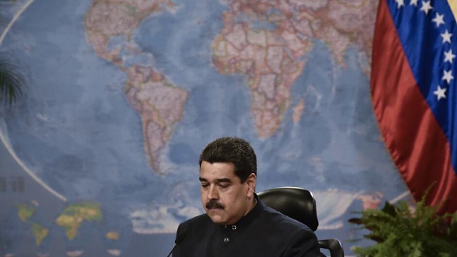 Venezuelan president Nicolas Maduro attends a press conference in Caracas in June.