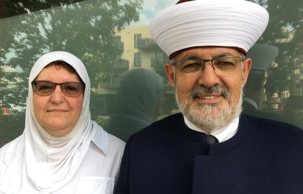 Imam Hassan Guillet, right, and his wife Nathalie Groulx