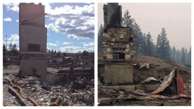The photos are eerily similar. On the left is Jason Schurman's home that was destroyed by the Fort McMurray wildfire in 2016 and on the right is his home near Williams Lake, B.C., that burned in July 2017.