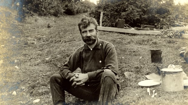 Ganong sporting a beard after several weeks of field work in the woods in 1901.