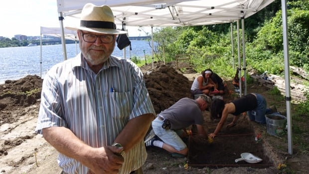 NCC archaeologist Ian Badgley poses at the site of his latest dig, Lac Leamy Park on the Gatineau side of the Ottawa River. His archaeological career dates back to the 1970s, with a lot of it spent in Canada's North.