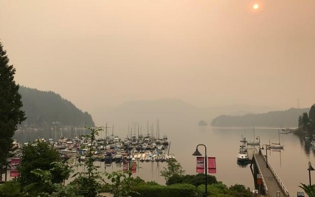 Deep Cove B.C. smokey sunrise