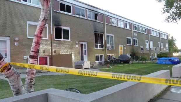 Crews were called to the Lord Selkirk housing complexes on the corner of King Street and Dufferin Avenue on Saturday night for a fire.