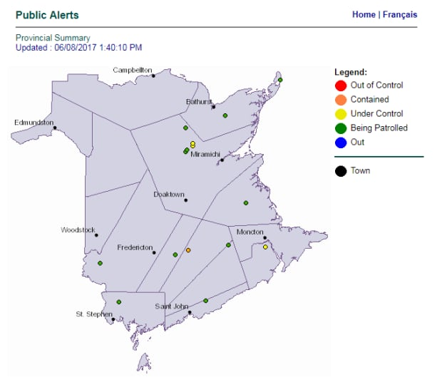 forest fire map updated