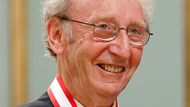 Jack Rabinovitch, founder of the literary Giller Prize, smiles after being awarded the rank of Officer in the Order of Canada in 2010.  Rabinovitch died Sunday in Toronto at 87.