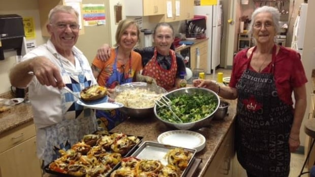 Staff and volunteers at the Whispers of Hope Benevolent Association's soup kitchen in Grand Forks, B.C.