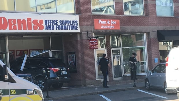 SUV Crashes Into Storefront In Downtown Charlottetown