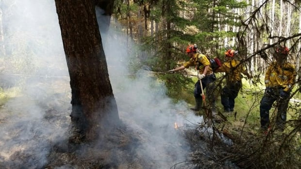 The P.E.I. firefighters were assigned to the Gustafsen fire in the area of 100 Mile House, about 200 kilometres north of Kamloops, B.C.