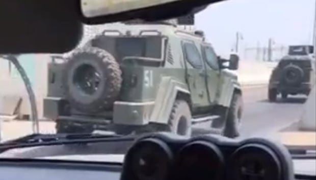 Canadian-made APC vehicles in Saudi Arabia