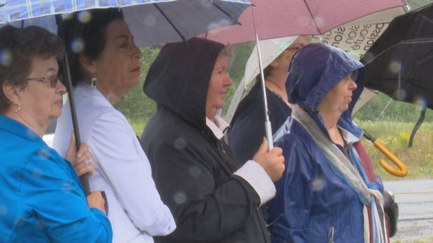 About 70 people gathered in Gaspé on Sunday to remember a deadly flash flood that happened ten years ago today.
