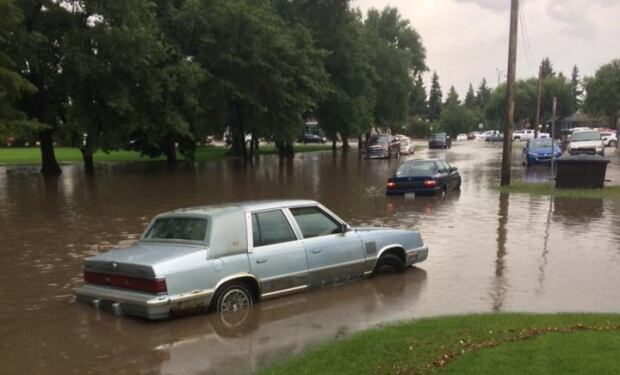 Storm flooding Saskatoon