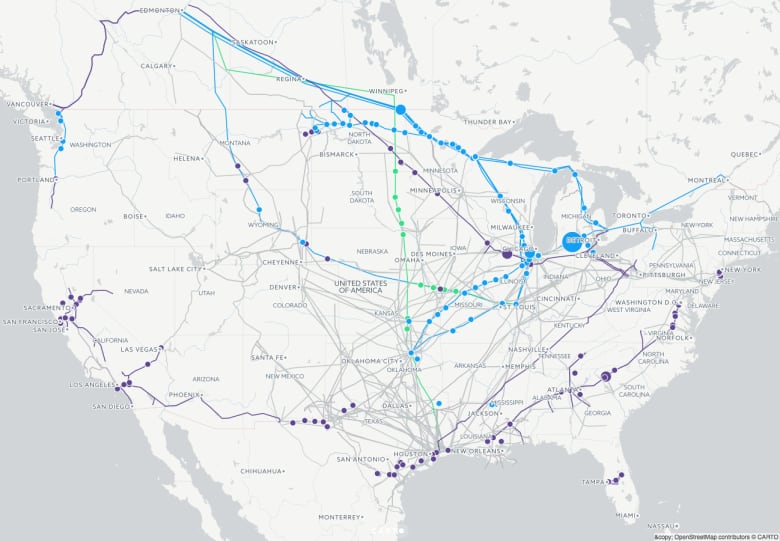 United States Pipelines Map Crude Oil petroleum Pipelines