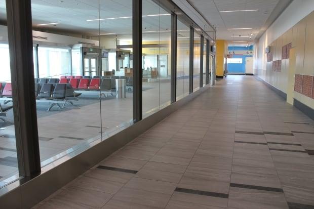 Iqaluit airport, inside