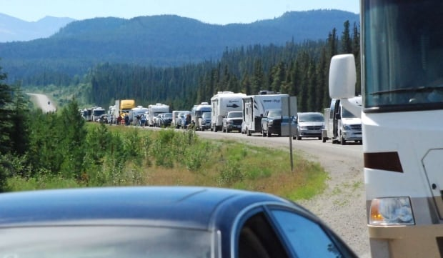 Alaska Highway closure fuel tankers