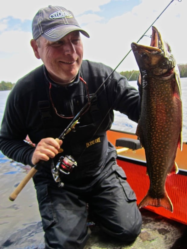 Mike Borger and brook trout