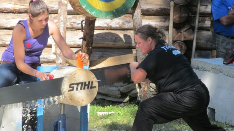 Top chops: P E I  woman wins national lumberjack competition | CBC News