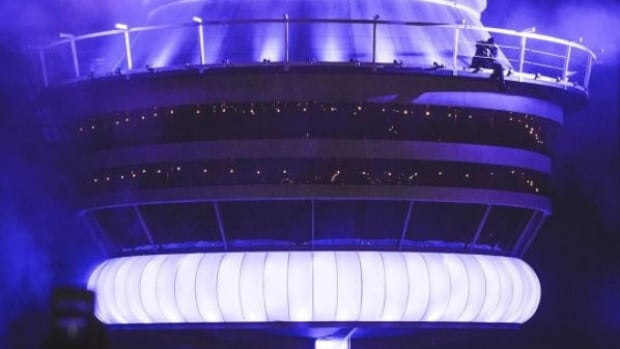Drake at his own CN Tower in Toronto