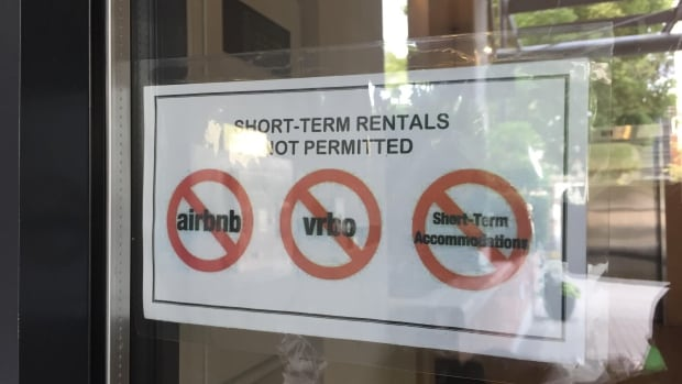 Signs on the front of many Metro Vancouver condo tower buildings make it clear that no short-term rentals or Airbnb listings are allowed. A Vancouver lawyer is preparing a class action lawsuit against Airbnb alleging the company is profiting from unauthorized use of other people's property.
