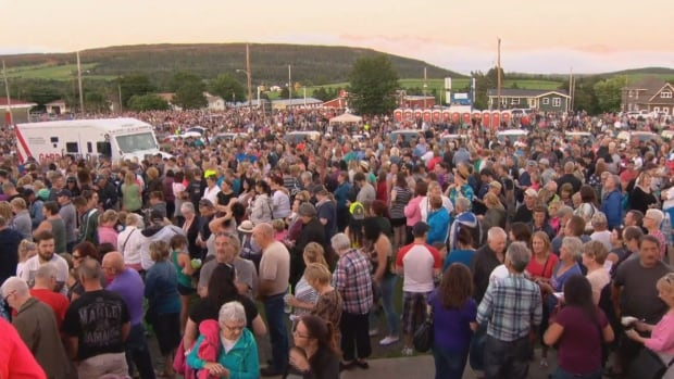 A look at the crowds for Chase the Ace in Goulds on Aug. 9. Organizers are hoping to avoid this kind of scene when the school year starts.