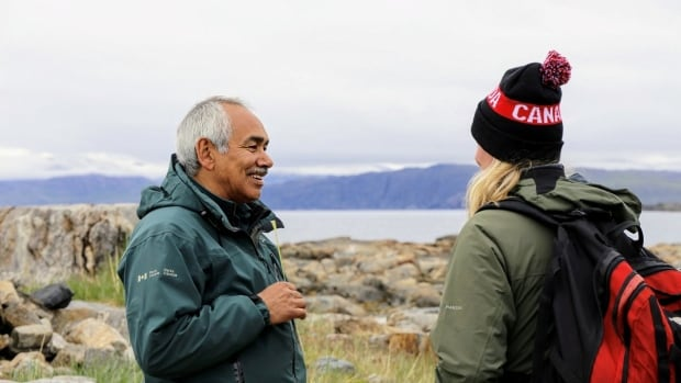 Environment Minister Catherine McKenna, pictured here with Torngat Mountains Superintendent Gary Baikie, says visiting the park was a great opportunity to learn more about how the Inuit people are living off the land in northern Labrador.