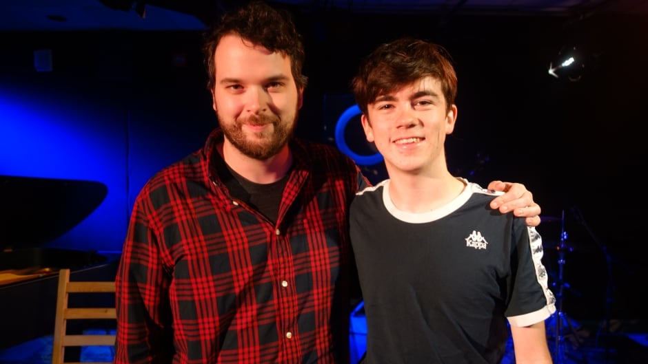 British artist Declan McKenna with Tom Power in the q studios in Toronto, Ont.