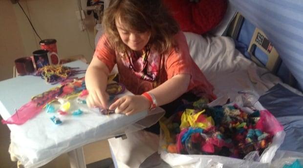 Marie Webb in hospital