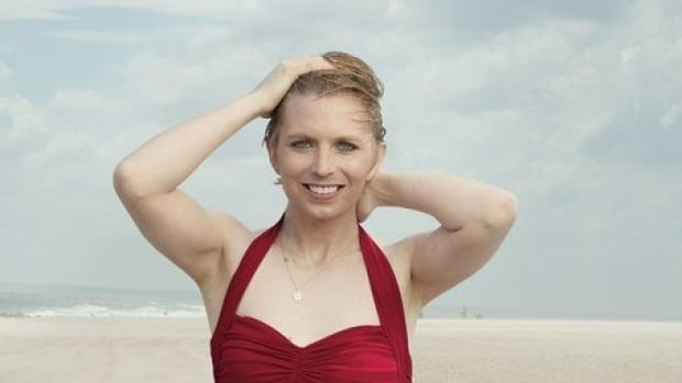 Chelsea Manning Poses in Red Bathing Suit in 'Vogue'