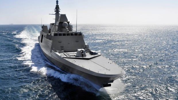 The French FREMM frigate Aquitaine, one of the possible designs for Canada's new frigates, sails, in an undated file photo.