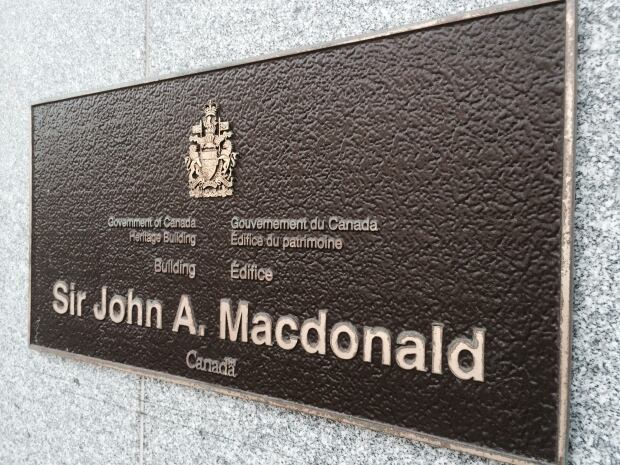 Plaque unveiled in 2012 at 144 Wellington Street, Ottawa