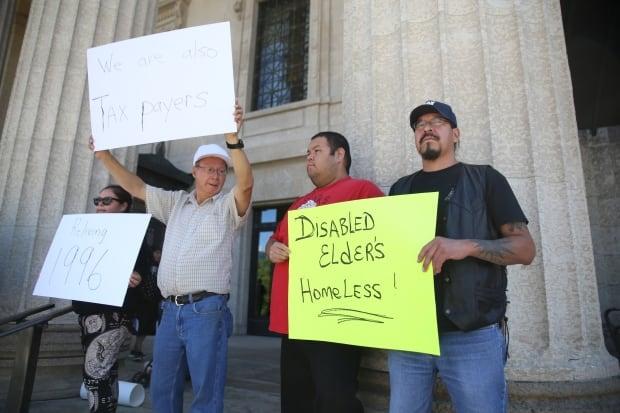 Waterhen Manitoba Housing protest